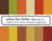 autumn fall digital paper, linen texture photography backgrounds, fall leaves colors red orange yellow brown, digital graphic design - 391
