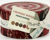 Chateau Rouge by French General for Moda Fabrics Jelly Roll 13620JR