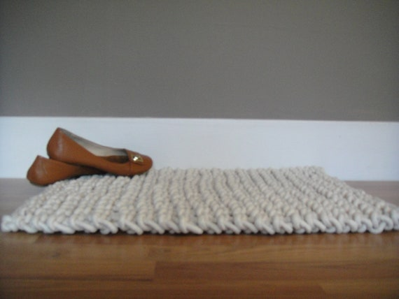 7 Dollars Off Hand Knit Rope Rug