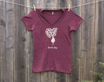 Womens Beets Me Funny Tshirt from the Garden for Foodie Lovers