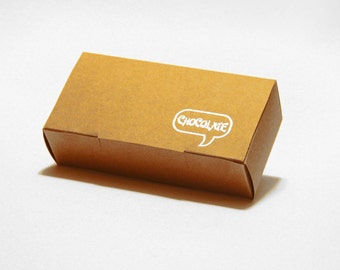Set of 10, Kraft Chocolate Gift Box, Favor, Gift, Party
