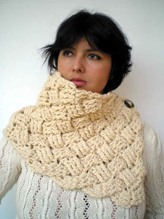 Chess Fashion Crochet Cowl Soft mixed Wool  Neckwarmer Chinky  Cowl NEW