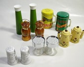 Salt & Pepper Shaker, Lot of 6, Percival Duffin's, and Elton Kirby's Lefton, and Others