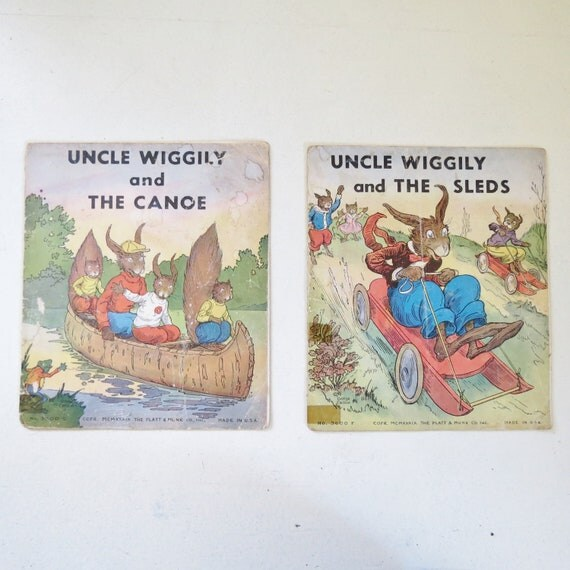 Set of Two 1939 Uncle Wiggily Children's Story Books by Howard R Garis