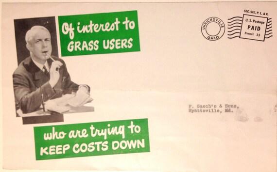 Marijuana Humor Grass Brochure Cemetery Pot  Advertisement