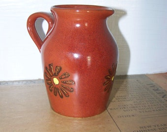 ARCO Pitcher Stoneware Cream Pitcher Brown Pottery Pitcher