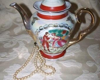 Lustreware Teapot Vintage Porcelain Teapot