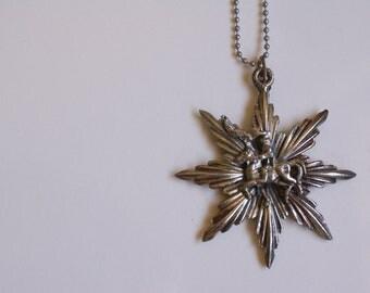 Sale My Knight in Shining Armor Necklace Silver Medieval/ Renaissance Sun Burst