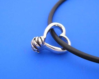 Silver Hands Praying Pendant , Heart Pendant , Hands Necklace , Hand Made Solid Silver