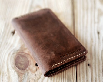 Iphone 6s case or iphone 6. Artisan Iphone leather wallet. Hand stitched iphone leather case. Christmas gift for men. Iphone 6s wallet