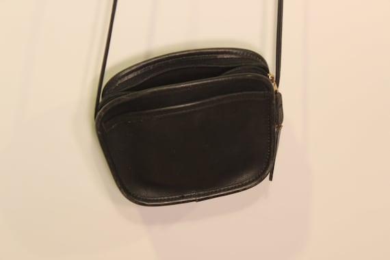 Vintage Coach Purse - 80s Coach - Black Leather  Purse - Small