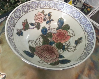 Hand Painted Vintage Bowl Very Detailed