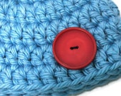 Baby Blue Button Hat, Photography Prop