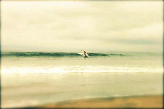 8 x 10 Beach Surf Photography Ocean Wall Decor Vintage Style California Travel Photograph