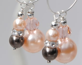 Earring Charms with Earrings - Swarovski crystal