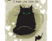 Cat Card Surprise, I hope you like it... funny A6 greetings card