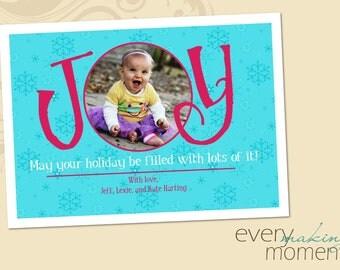 Christmas Photo Card, Photo Christmas Card, Holiday Photo Card (digital or print yourself) custom, personalized