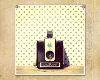 Vintage Camera Photography Kodak Hawkeye Flash--Fine Art Lomography Print 10x10