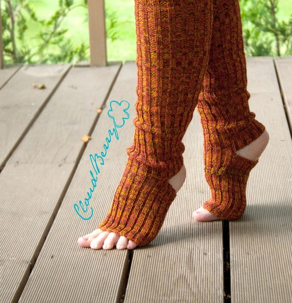 Knitting Pattern Dance Leg Warmers : Items similar to Yoga socks / dance socks / leg warmers / boot socks Orange, ...