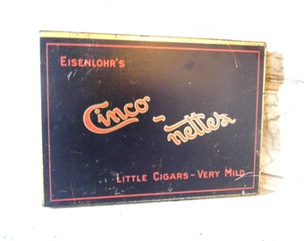 Tobacco Tin, Tin Cigar Box, Industrial Tins, Cigars, Smoking, Tobacco, Tin Box, Boxes, Tin Boxes, All Vintage Man