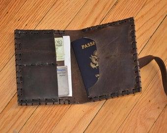 Handmade Leather Passport Case, Unisex Leather Wallet, Travel Case