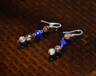 Glass and Stone Beaded earrings