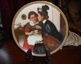 Gossiping in the Alcove Knowles Norman Rockwell Collector Plate