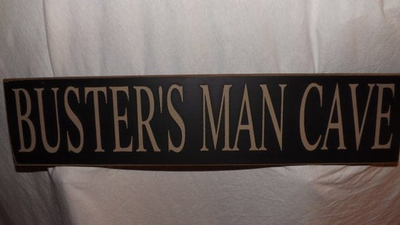 Hand Painted Man Cave Signs : Create your own wood sign add a name man cave by oakridgeprims