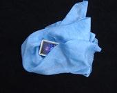 """Morning Sky Silk Tarot Cloth - Altar Cloth - Hand Dyed 30""""x30""""...100% Silk"""
