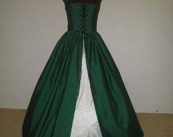 Hunter Green Irish Celtic Renaissance Overgown Dress Made FOR you other COLORS Available