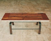 Sixty-two bench, rustic modern, coffee table, bench