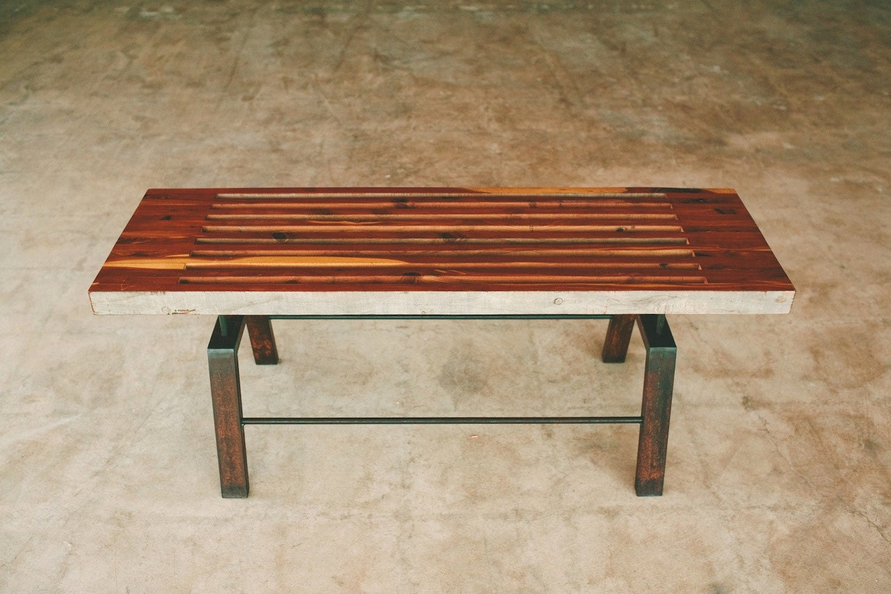 Sixty Two Bench Rustic Modern Coffee Table Bench