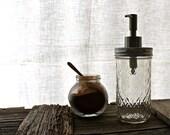 """Autumn Mason Jar Soap Dispenser (12oz) """"Sarita"""""""