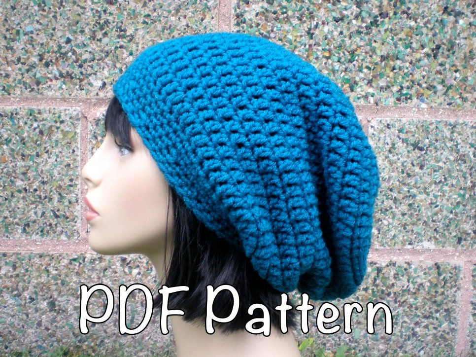 Pattern Autumn Slouch Unisex Slouchy Beanie Hat P D F Easy