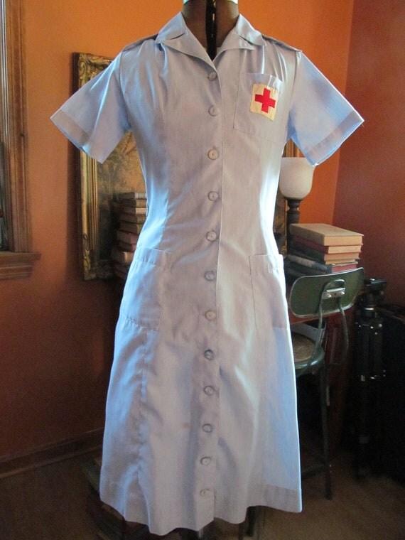 RESERVED-Vintage 1940 Red Cross Volunteer Nurses Uniform