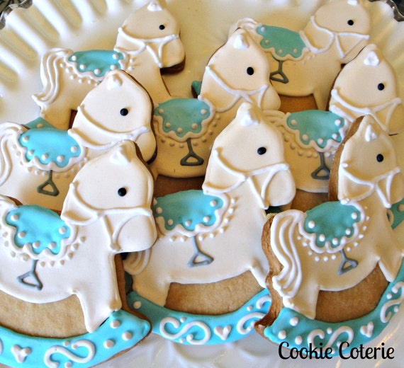 Rocking Horse Cookies Decorated Sugar Cookies Baby Shower