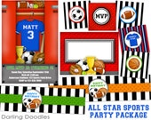 All Star Sports Birthday Party Package- Printables