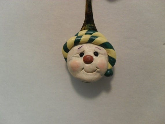 Handmade Snowman Spoon Ornament