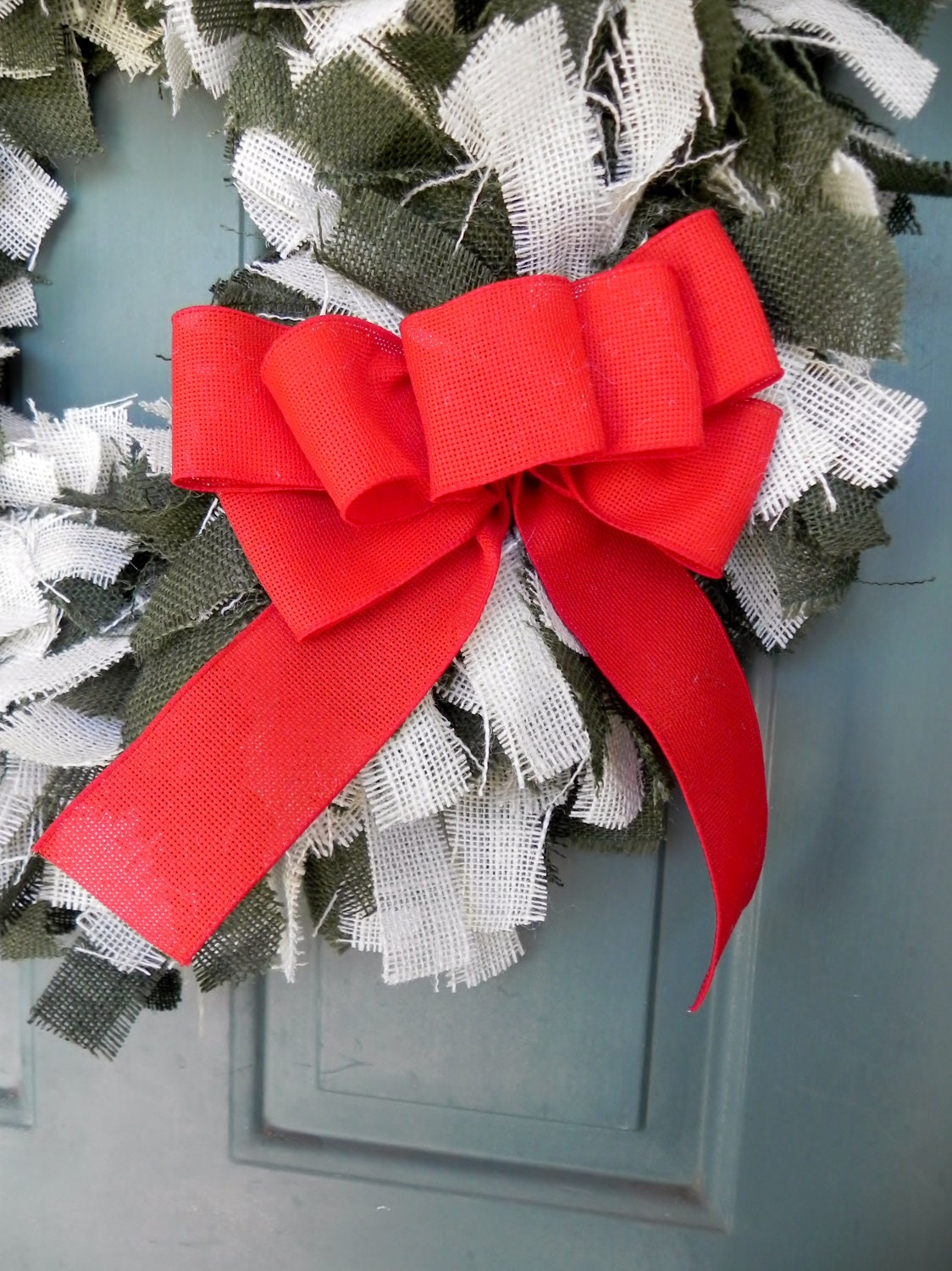 Add a Multi-Loop Bow to Any Wreath - Christmas Package Decoration - Christmas Bow