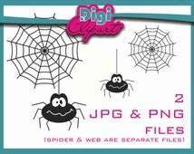 Spider Web Halloween Clip Art - INSTANT DOWNLOAD