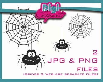Spider Web Halloween Clip Art - INSTANT DOWNLOAD