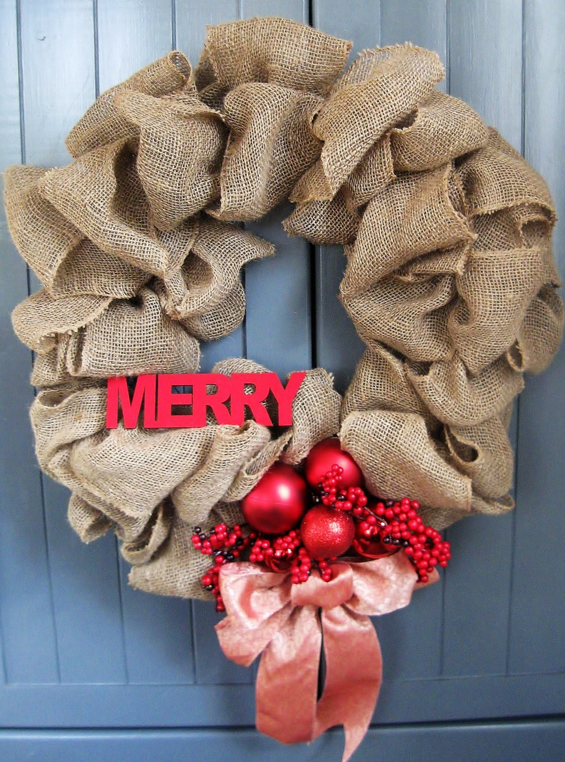 Burlap christmas wreath merry wreath burlap wreath gift under Burlap xmas wreath