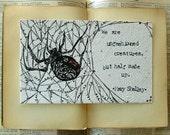 Original Illustration, Mary Shelley Quote - Frankenstein, Literature Art, Nature Illustration Art
