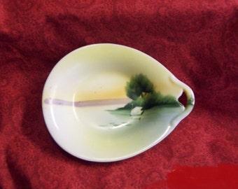 """Noritake painted dish Occupied Japan Collectible Noritake 5"""" vintage"""