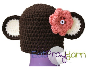 Infant/Toddler Size - Anime Monkey - with interchangeable flower.
