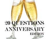 20 Questions - Anniversary Edition - Memory Album - Keepsake Gift - Printable
