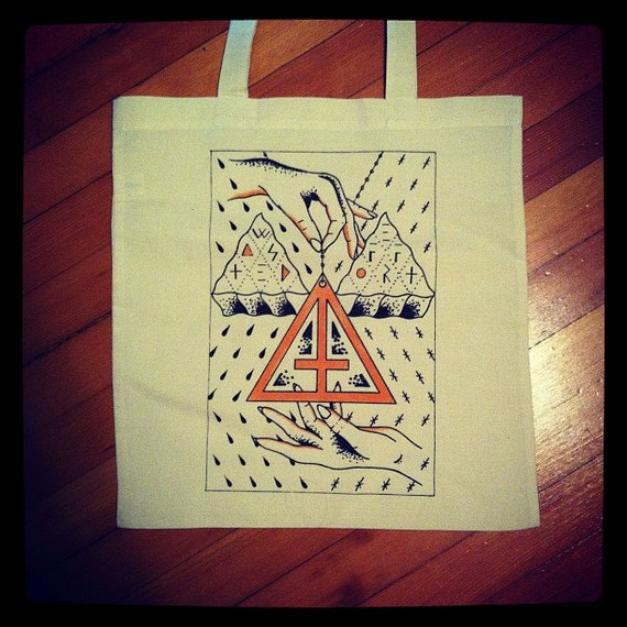 WASTED EFFORT ghost hands tote bag