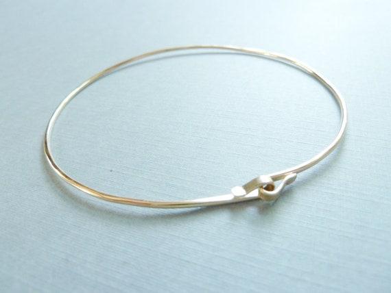 RESERVED for jenchris - Infinity Gold Filled Bangle Bracelet, Infinity bracelet, Hand Forged, Hammered bracelet, Gold Bangle