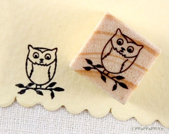 cute owl Small Rubber Stamp