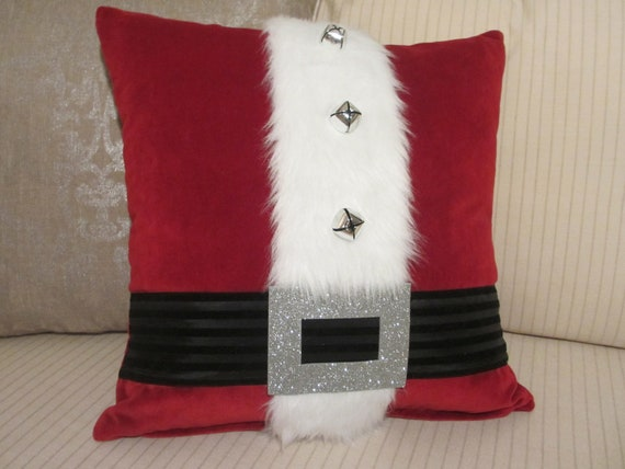 items similar to christmas pillow cover santa pillow decoration high end red decorative throw. Black Bedroom Furniture Sets. Home Design Ideas